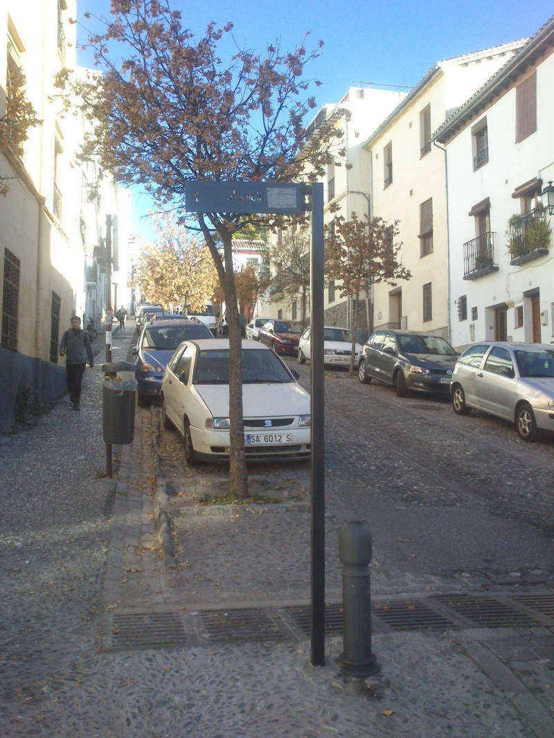 Cuesta Alhacaba desde la Plaza de la Merced (2013)