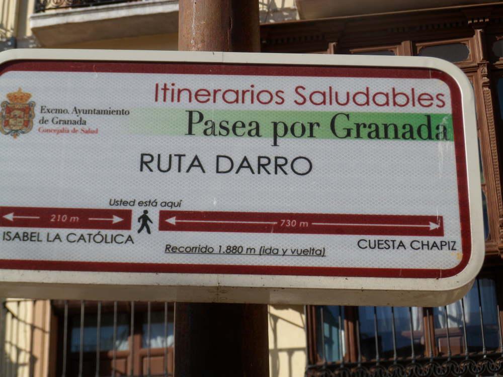 Señalización de itinerarios saludables en Plaza Nueva