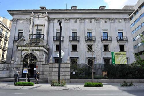 Obras en el edificio del Banco España en Granada para adaptarlo como sede de la Fiscalía del TSJA (Foto: EL Mundo)