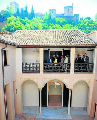 Imagen de archivo del patio interior de la Casa de Zafra.