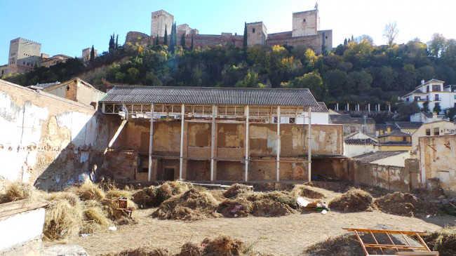 Imagen del aspecto del Maristán el pasado mes de diciembre. Al fondo, la Alhambra.