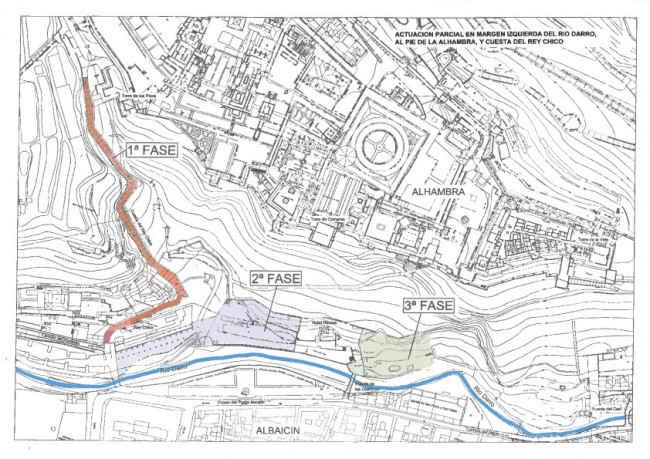 Las tres fases de actuación sobre la ribera izquierda del río Darro. 2014