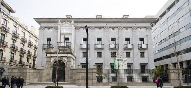 Fachada a Gran Vía del edificio del Banco España. FOTO: GONZÁLEZ MOLERO