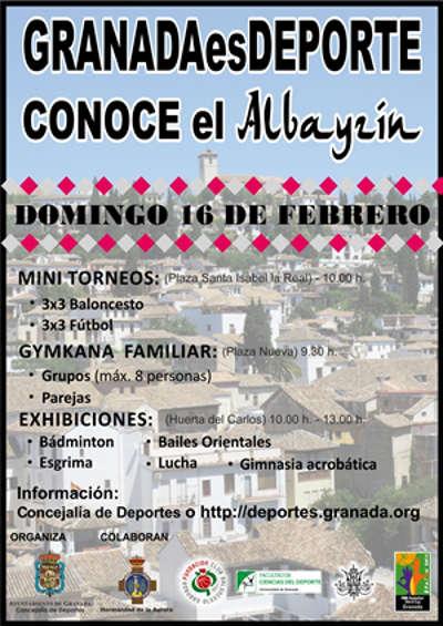 Cartel deporte Albayzin 2014