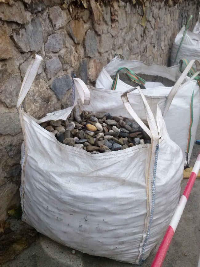 Piedras empleadas en la calle Cruz de la Rauda