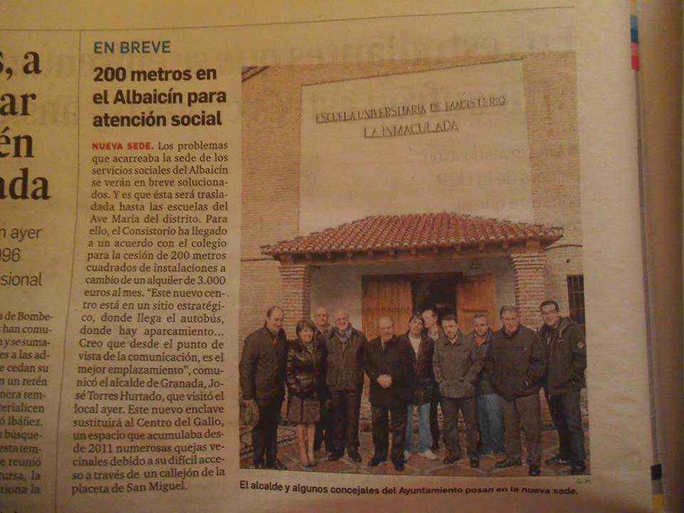 Alcalde y PP visitan el futuro local de Servicios Sociales en la antigua Escuela de Magisterio del Ave María, alquilada por 3.000 euros al mes.