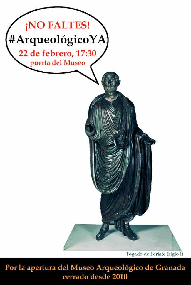 Convocatoria para la concentración por la apertura del Museo Arqueológico.