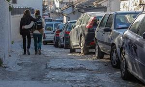 Estado en el que se encuentra la calle Zenete en el barrio del Albaicín.: ALFREDO AGUILAR