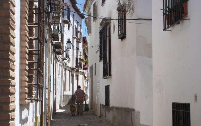 Imagen de una de las calles del barrio del Albaicín.