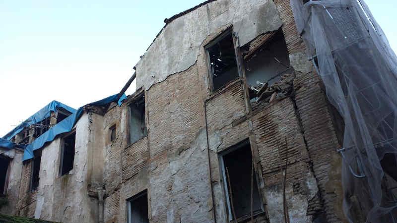 Parte trasera del edificio de Elvira en la calle Serrano. 2014