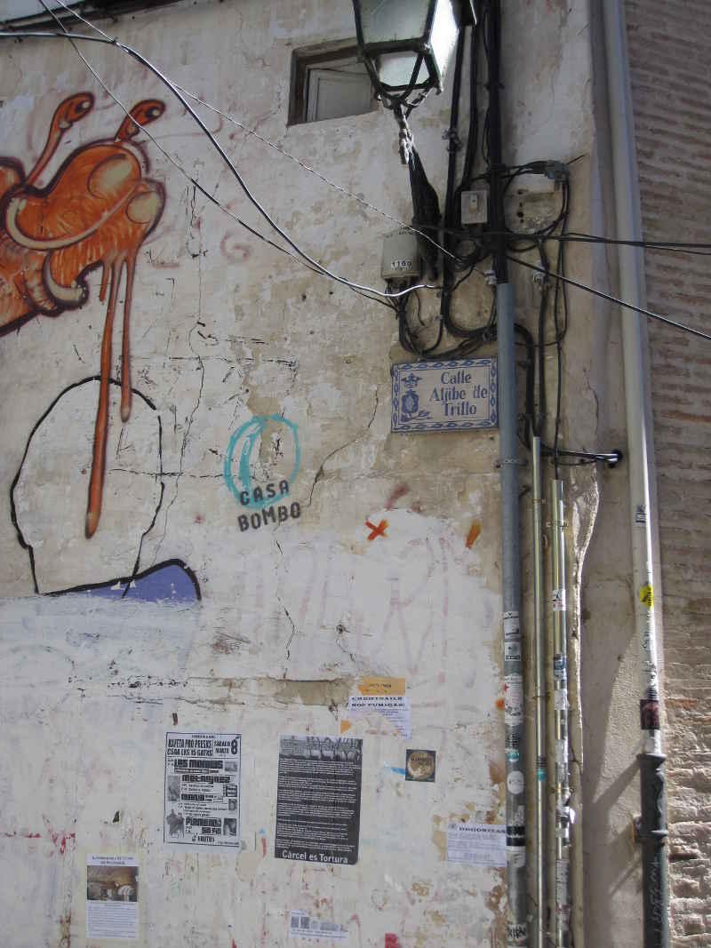 Entrada a la calle Aljibe de Trillo desde la Cuesta de San Gregorio. 2014