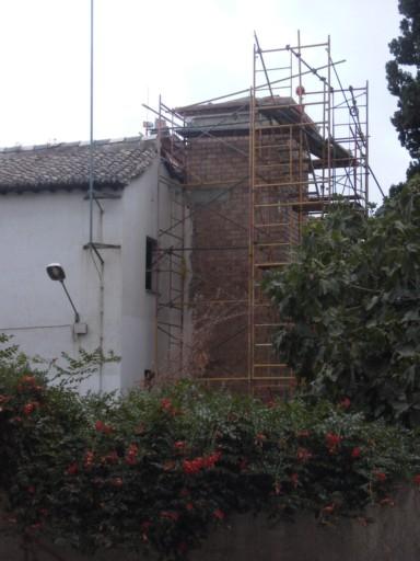 Casa Porras torreón en obras el año 2007