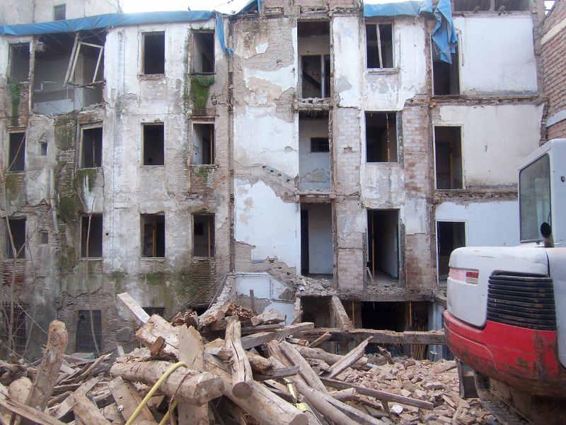 Derribo edificio calle Serrano 2014