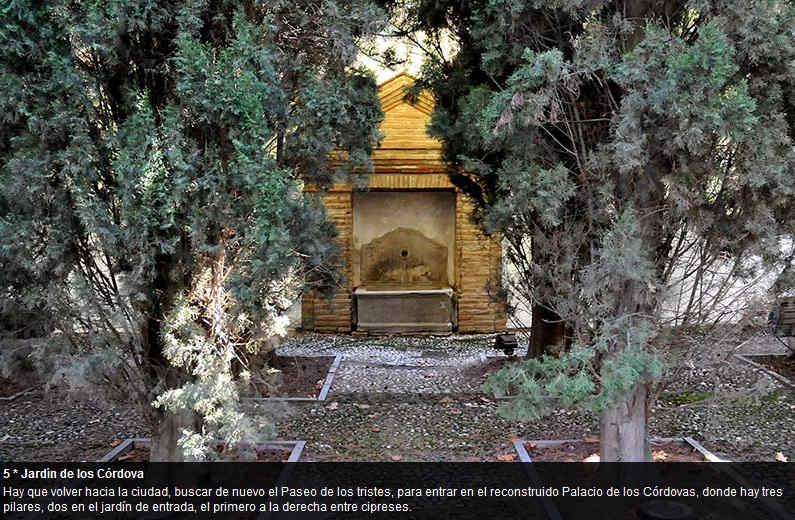 Pilares del Albayzín ID 2014  Jardines del Palacio de los Córdova.