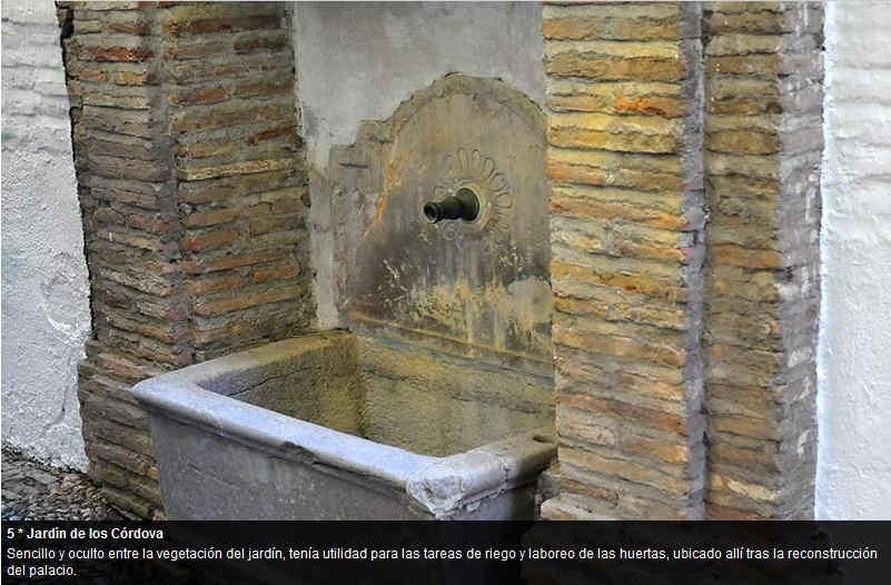 Pilares del Albayzín ID 2014  Pilar en el Palacio de los Córdova.