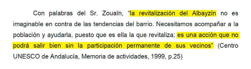 Declaraciones de George S. Zouaïn, Director Adjunto del Centro de Patrimonio Mundial recogidas en 1999