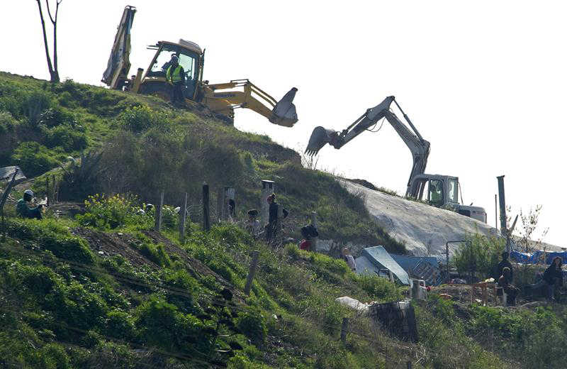 Trabajos de demolición. // EFE