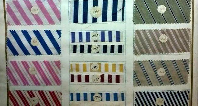 Libro muestrario de tejidos de la fábrica San Miguel. 1940 aproximadamente. GiM2014