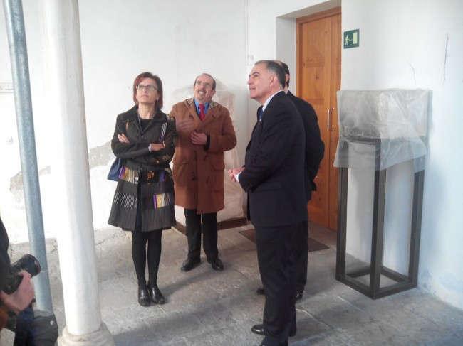 Ana Gámez, Isidro Toro, Juan García Montero y Sebastián Pérez, en su visita al museo.