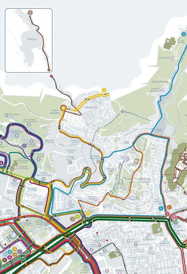 Nueva red autobuses de transporte público en el Albayzín 2014 Ideal