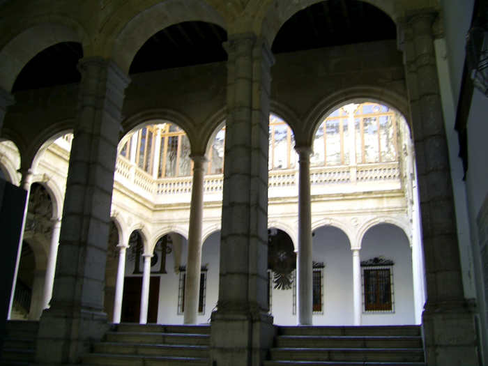 Patio principal de la Real Chancillería.