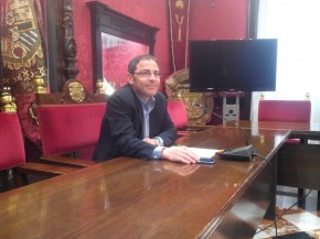 Miguel Ángel Fernández Madrid, hoy en la rueda de prensa. GiM 2014
