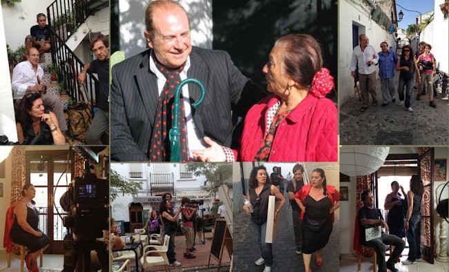 Algunos momentos del rodaje del documental de Chus Gutiérrez sobre el Sacromonte. GiM 2014