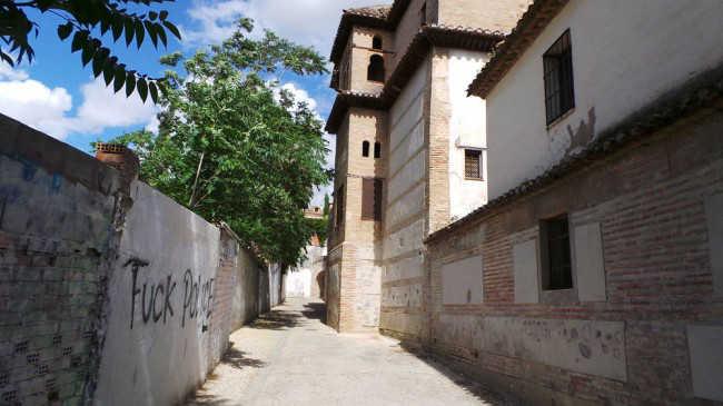 Exterior del Palacio de Dar al Horra, en el Callejón de las Monjas. GiM 2014