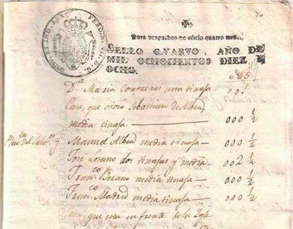Expediente del arreglo de la acequia Aynadamar a su paso por El Salvador en el Archivo de la Real Chancillería (1818)