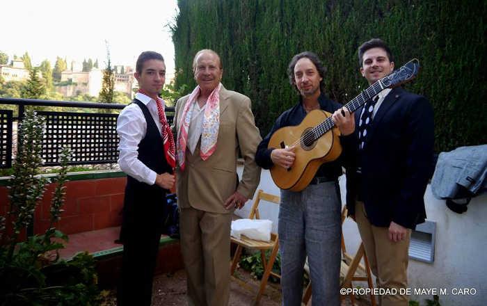 Artistas participantes en la segunda noche flamenca. 2014