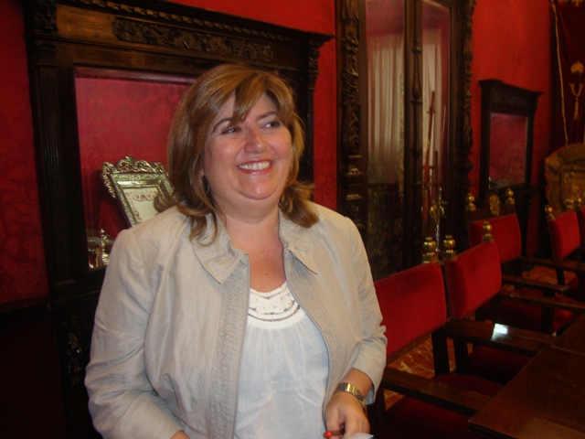 Ana Muñoz concejala del PSOE en el Ayuntamiento de Granada. 2014