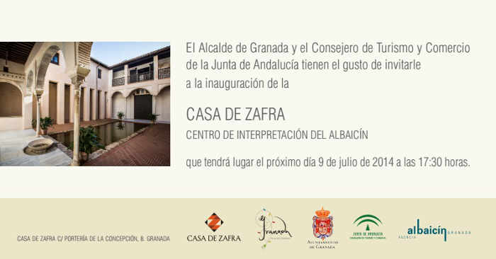 Casa Zafra initacion inauguracion 2014