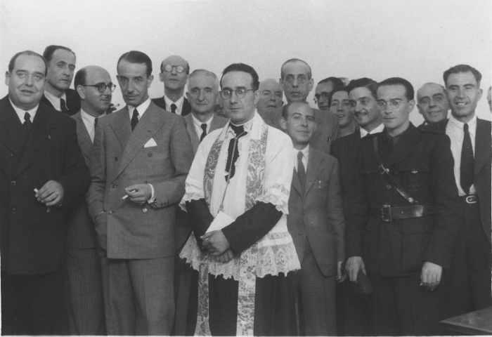 Comedor del Auxilio de Invierno. Acto de inauguración 1937