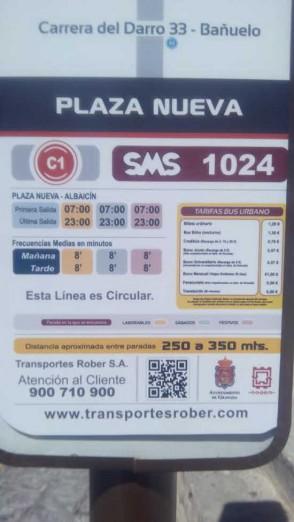 horario bus C1