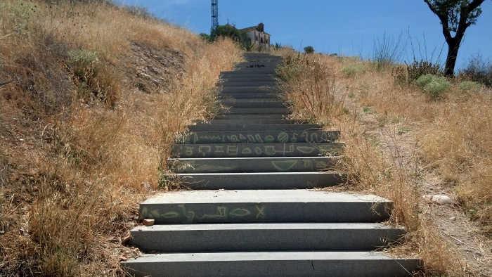 Pintadas escaleras San Miguel Alto