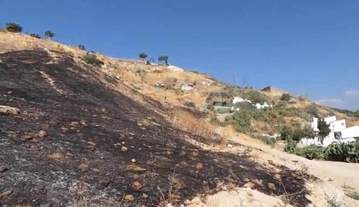 Incendio en el cerro del Aceituno julio 2014 GiM