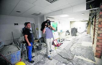 La sede de la asociación de vecinos de San Ildefonso, en plenas obras. GH 2014
