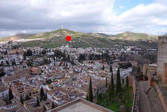 Localización de la cámara en San Miguel Alto.