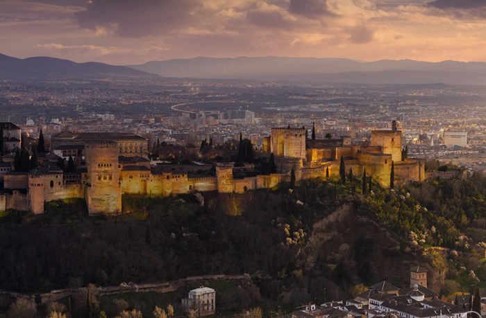 Alhambra y Albayzin cambios de luz