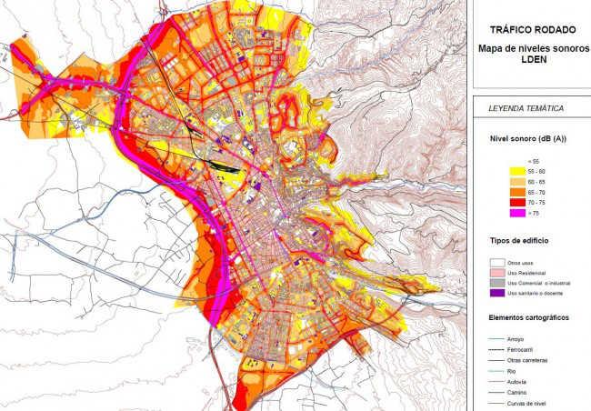 mapa ruidos Granada