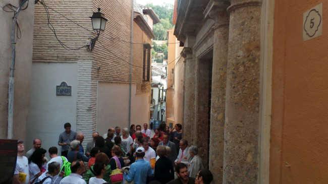 La protesta terminó en la Casa Ágreda, el palacete del siglo XVI que pretende vender el gobierno municipal. GiM 2014