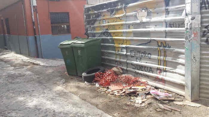 Calle Zenete y aparcamiento materiales de obra  20141011