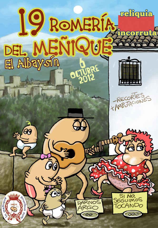 Cartel romería Menique 2014