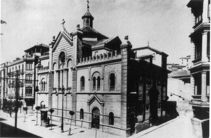 Convento del Santo Angel Custodio en la Gran Vía Solar ocupado hoy por el Banco de España.