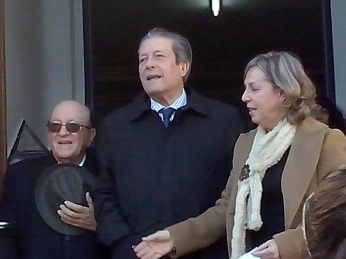 Miguel Carrascosa, Federico Mayor Zaragoza y la actual directora Isabel López  (Foto de Margarita Marín)