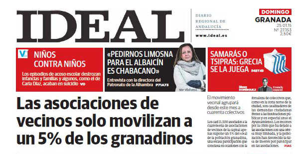 participacion vecinal portada Ideal 20150125