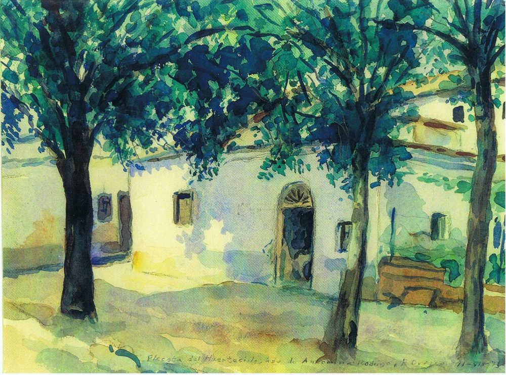 Casa Anonina Rodrigo C Gallo Acuarela Emilio Orozco 1973