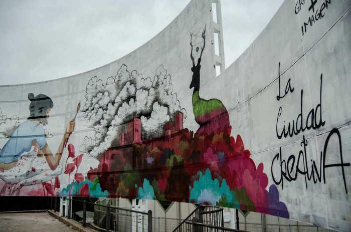 Mural gafritti 2015 Granada