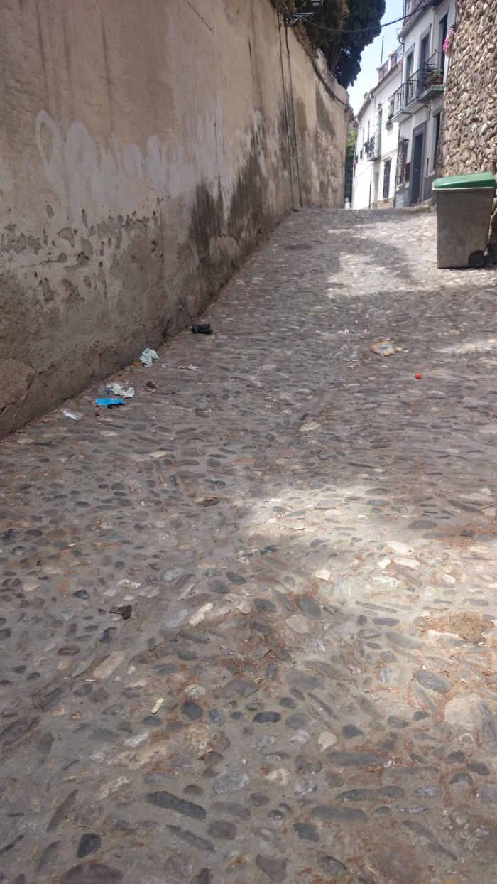 Basura calle Guinea 20150519