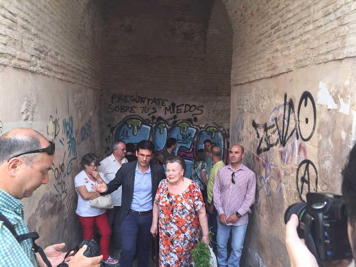Cuenca PSOE arco de las pesas 2015